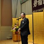 来賓の祝辞をする佐藤雄平福島県知事(1)