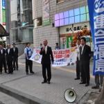激励の挨拶をする小川社民党県連代表