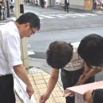 長時間労働ストップ!街頭アンケートを実施②