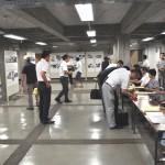 参加者の受付場所に、被爆時の写真を掲示
