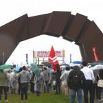 悪天候の中、開催された平和集会①