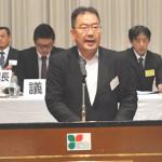 1年間の活動を報告する 遠藤徳雄副事務局長
