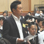 発言する電機連合鈴木重一代議員