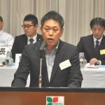 第5号議案を提案する、鈴木茂副事務局長