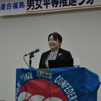 主催者を代表して挨拶する大越香代子代表幹事