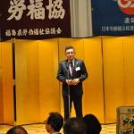 主催者を代表して挨拶する連合福島及び県労福協今野泰会長(1)