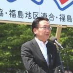 来賓挨拶、紺野長人社会民主党福島県連代表