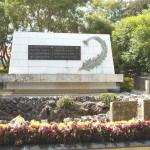 沖縄陸軍病院第三外科が置かれた壕の跡に立つ慰霊碑「ひめゆりの塔」