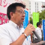 応援団の取り組み「働き方改革関連の課題」を訴える 鈴木克明 連合福島副会長