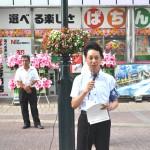 応援団の取り組み「働き方改革、最低賃金、恒久平和」を訴える 遠藤和也 連合福島副会長