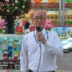 連帯の挨拶をいただいた福島市議会会派 社民党・護憲連合 羽田房男福島市議会議員