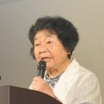 「私の被爆体験」と題して講演を頂いた広島県被団協・被爆を語り継ぐ会・畠山裕子さん