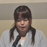 「2018ふくしまからの平和アピール」を読み上げる連合福島 高橋幸恵執行委員