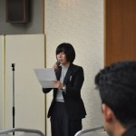 進行する 連合福島青年女性委員会幹事 今野未奈子さん