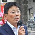 連合福島を代表して挨拶する加藤光一事務局長