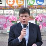 連帯の挨拶をいただいた立憲民主党幹事長・高橋秀樹福島県議会議員