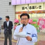 応援団の取り組みを訴えた鈴木克明連合副会長