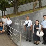「長崎原爆資料館」前にて
