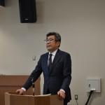 進行する連合福島 八巻 正一 事務局長